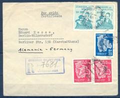 1956 , BOLIVIA , SOBRE CERTIFICADO CIRCULADO ENTRE COCHABAMBA Y BERLÍN , LLEGADA AL DORSO - Bolivia