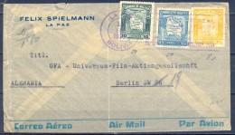 1938 , BOLIVIA , SOBRE CIRCULADO ENTRE LA PAZ  Y BERLÍN , CORREO AÉREO - Bolivia