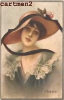ILLUSTRATEUR M. BERTINELLI FEMME AU CHAPEAU ITALIA MODE WOMAN FASHION ART DECO - Illustrateurs & Photographes