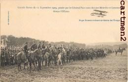 GRANDE REVUE 1909 PASSEE PAR LE GENERAL PAU ENTRE ART-SUR-MEURTHE ET LENONCOURT AVIATEUR ROGER SOMMER OFFICIERS GUERRE - Non Classés