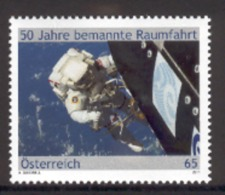 AUSTRIA 2011 Manned Space Flight, Scott No. 2304 MNH - Space