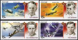 Russia, 2014, Mi. 2033-36, History Of Aviation Ram Attacks, WW II, MNH - 2. Weltkrieg