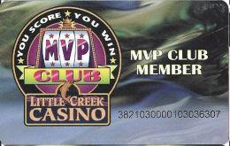 Little Creek Casino Shelton WA Slot Card - ACC On Back & Reverse Upside Down - Name On Back - Casino Cards