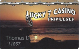 Lucky 7 Casino Smith River, CA - Slot Card - Address & Phone Info On Single Line - Casino Cards