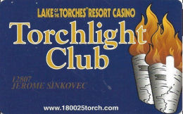 Lake Of The Torches Casino Lac Du Flambeau, WI - Slot Card - 2 Lines Phone# Info - Casino Cards