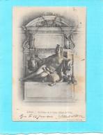LYON - 69 -   CPA DOS SIMPLE - La Statue De La Saone - Hotel De Ville     - ENCH1202 - - Lyon