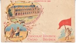 PARIS  EXPO.  AD  CARD  CACAO CHOCOLAT  DEVINCK    Fold  * - 1900 – Pariis (France)