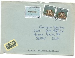 Macedonia Letter Via USA.nice Stamps - Macédoine