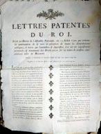 VENTE DE POISSONS PLACARD A LA FLEUR DE LYS  REGLEMENTANT LA TAXE SUR LES VENTES DE POISSON DANS LE ROYAUME  1790 - Documents Historiques