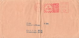 Enveloppe Timbrée - Allemagne - Frankfurt - 23.07.1959 - KLM 40 Ans (1919-1959) Firma Richter & Wiese - Message Dos - Allemagne