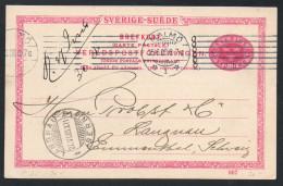 2452 - Beleg - Ganzsache Malmö Nach Langnau 1908 - Enteros Postales