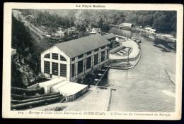 Cpa Du 22 Guerlédan Barrage Et Usine Hydro Electrique -- L' Usine Vue Du Couronnement Du Barrage      LIOB87 - Caurel