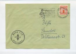 1938 3. Reich HJ Hitlerjugend Vordruck Dienstbrief Stuttgart Bann 119 Mi 149 EF - Germania