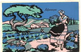 04  MANOSQUE    CARTE  VELOURS   MANOSQUE    PROVENCE (  Couleurs  + Vives ) - Manosque