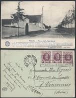 AB937 Carte Postale Waterloo Ferme De La Haie Sainte De Bruxelles à Vincennes France 1924 - Cartes Souvenir