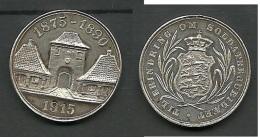 Alte Medaille DENMARK ? 1915 Soldatenjubiläum - Souvenirmunten (elongated Coins)