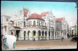 SINGAPORE SINGAPOUR HONG KONG ET SHANGAI BANK TIMBRE ENLEVE - Singapore