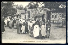 Cpa Afrique Mystérieuse -- Groupe De Femmes    LIOB86 - Cartes Postales