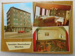 CP Allemagne  MÜNCHEN  MUNICH  - Gaststätte Rhaetenhaus MÜNCHEN Luisenstrasse E. HÄRTINGER  - Voitures  VW Et BMW - Muenchen