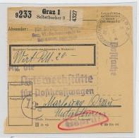 Österreich -alte Paketkarte  Zensur    Be6895 ) Siehe Scan  ! - 1918-1945 1st Republic