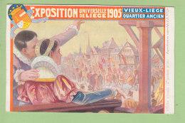 Affiche Officielle, 2e Prix, VIEUX LIEGE, Exposition 1905. Dos Simple. 2 Scans. Edition Lauwers & Cie - Lüttich