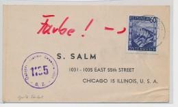 Österreich-alte Karte > USA Zensur   ( Be7036  ) Siehe Scan  ! - 1945-60 Briefe U. Dokumente