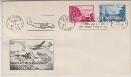 Argentina 1973 1st Flight Of Hercules C-130 To Antarctica Argentina, Label,  Ca 15 Abr 1973 Cover (29749) - Poolvluchten