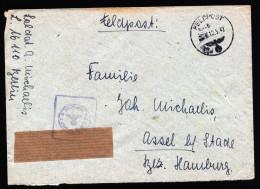A3979) DR Feldpostbrief Von FP L16110 12.5.42 Mit Kleinem Formationsbriefstempel - Briefe U. Dokumente