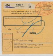 Paketkarte Gotha   ( Be6976  )siehe Scan  ! - Germany