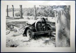 ACCIDENT  AUTOMOBILE VOITURE  DETRUITE   PHOTO ORIGINALE  1950 DIMENSION  10 X 6 CM - Cars
