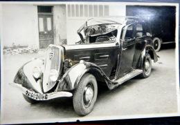 ACCIDENT  AUTOMOBILE   VOITURE  PEUGEOT  PHOTO ORIGINALE 1950  DIMENSION  9 X 12 CM - Automobiles