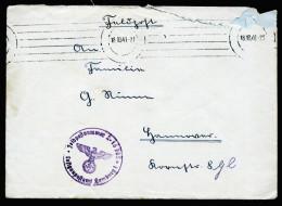 A3981) DR Feldpostbrief Von FP L16765 18.10.41 Mit Tarnmaschinenstempel - Briefe U. Dokumente