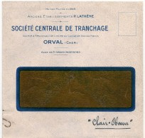 Envelppe 18 Orval Société Centrale De Tranchage - Altri Comuni
