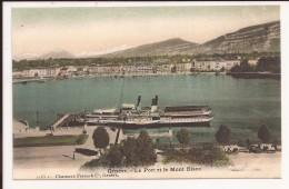 Geneve : Le Port Et Le Mont Blanc - GE Genève