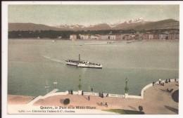 Geneve  Le Port Et Le Mont Blanc - GE Genève