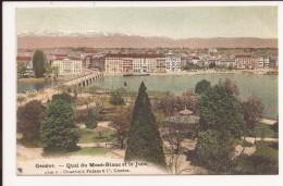 Geneve  Quai Du Mont Blanc Et Le Jura - GE Genève