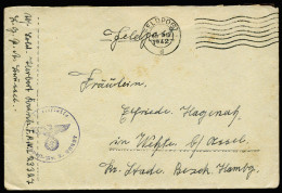 A3982) DR Feldpostbrief Von FP L23327 30.3.42 Mit Feldpostmaschinenstempel - Briefe U. Dokumente
