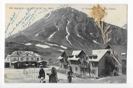 LE LAUTARET  (cpa 04)  Le Refuge Et Les Chalets - Carte Avec Un Edelweiss Séché - - Francia
