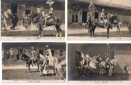 60 COMPIEGNE  Beau LOT De 4 Cartes Fêtes En L'honneur De Jeanne D'Arc (1909) Les Chevaliers - Compiegne