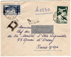 Ain - HAUTEVILLE-LOMPNES GA - 23.3.49 - S/ 822 Et Av.16 - Recommandé Provisoire. - Poststempel (Briefe)