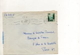 Maroc Enveloppe Du 12 Fevrier 1955 De Fes Pour Paris - Marokko (1891-1956)