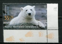 """Germany 2008 Michel Nr.2656 """"Umweltschutz-Eisbär Knut,Berliner Zoo,Natur Weltweit Bewahren """"1 Wert, ** MNH Postf.-mint - Environment & Climate Protection"""