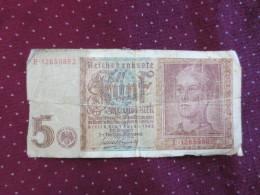 Reichsbanknote  5 - [ 4] 1933-1945 : Third Reich