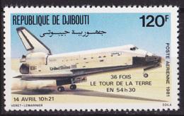 Timbre PA Neuf ** N° 156(Yvert) Djibouti 1981 - Espace, Navette Spatiale - Djibouti (1977-...)