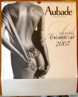 Calendrier Grand Format 2007 , AUBADE , Sous Vêtement Féminin , 43 X 34 , Frais France : 4.95€ - Calendarios