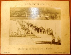Photographie , 31.5 X 24 , 6 E Régiment De GENIE , Manoeuvres De Pontage Sur Le RHÔNE , Frais France : 2.95€ - Guerre, Militaire