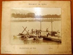 Photographie , 31.5 X 24 ,  Régiment De GENIE , Manoeuvres De Pontage Sur Le RHÔNE , Frais France : 2.95€ - Guerra, Militares