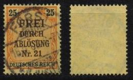 Deutsches Reich Dienstmarken MiNr. 6 O / Gestempelt VST  FORST - Dienstpost