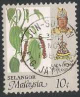 Selangor(Malaysia). 1986 Agricultural Products. 10c Used. SG 179 - Malaysia (1964-...)