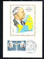 FRANCE 1971,  CARTE MAXIMUM YVERT Nº P.A.46. DIDIER DAURAT   CM.-120 - 1970-79